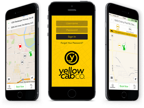 Order Taxi Online - The YellowCabCo  App | Yellow Cab